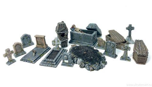 dungeon decor D/&D rpg dwarven forge Malifaux Graveyard kit Frostgrave