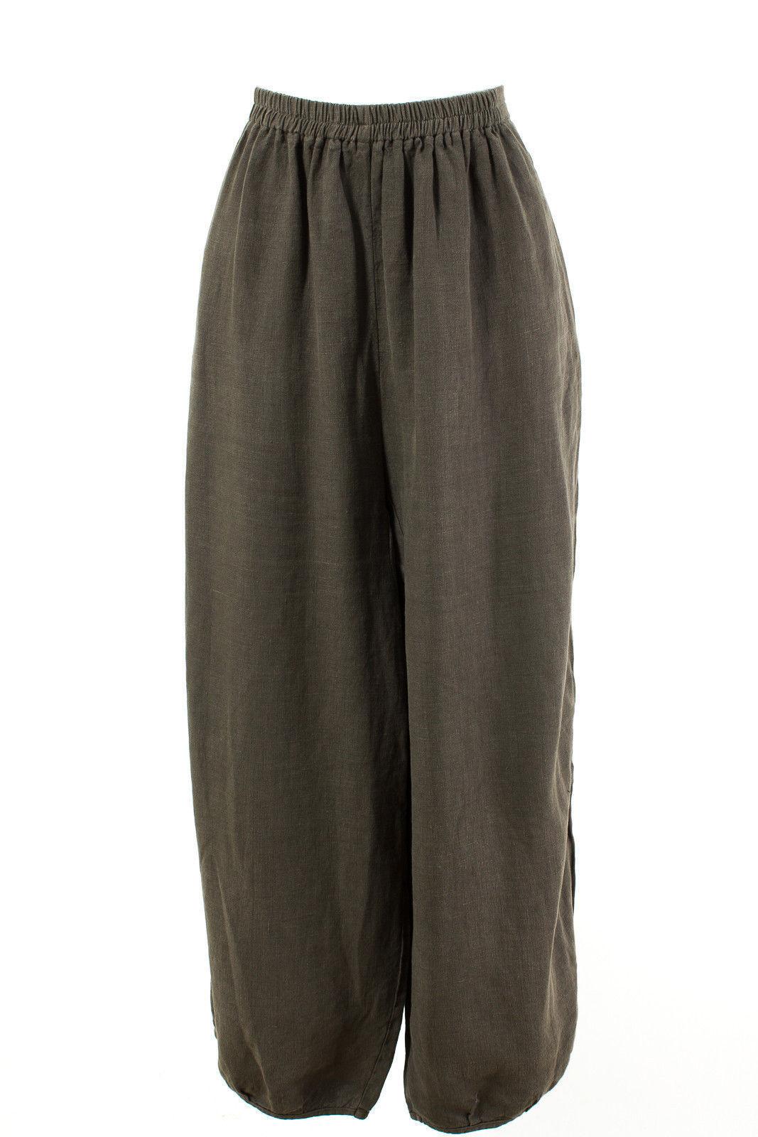 Kandis & Kandis Man Trousers Größe 3 = de 38 M 100% Linen Wide Leg Lagenlook Hose