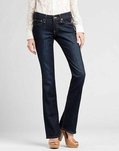 NEW Lucky Brand Women/'s Dark Blue Denim Classic Rider Stretch Jeans Size 0 2 4 6