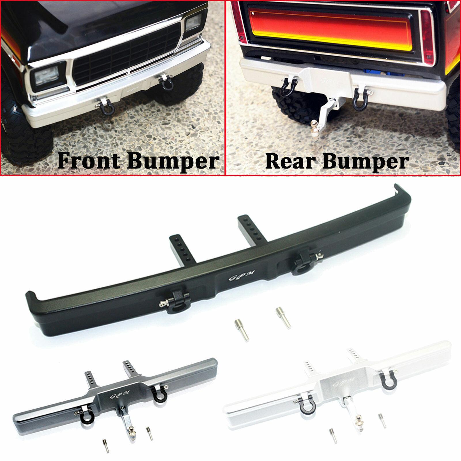 economico e alla moda Metal Metal Metal davanti & Rear Bumper Set For 1 10 Traxxas TRX4 Ford Bronco RC Crawler autos  consegna rapida