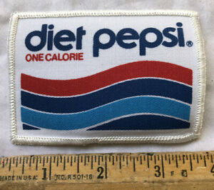 Vintage Diet Pepsi One Calorie Cola Soda Pop Patch Old Logo Iron On