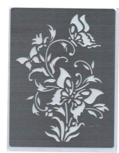 Stainless//Steel//stencil//Oblong//Oriental//Butterfly//Butterflies//Emboss//NEW
