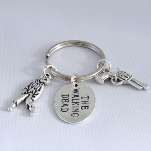 """Rick  rhodium charms /""""THE WALKING DEAD/"""" inspired key ring"""