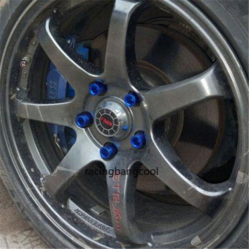 20pcs//set Racing M12x1.5 Gold Open End Inner Hex Wheel Lug Nuts Rims Lug Nuts