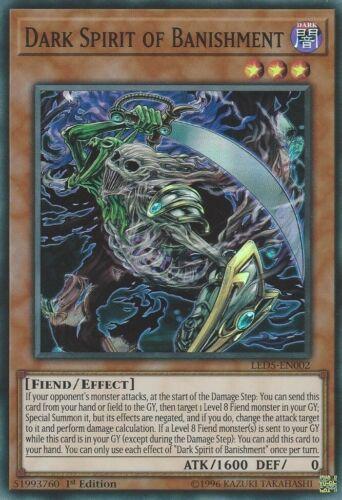 1st Editi Super Rare LED5-EN002 YGO-1x-Near Mint-Dark Spirit of Banishment