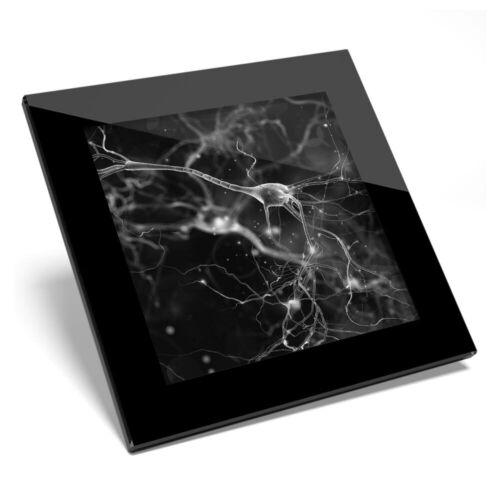 Posavasos De Vidrio BW-células biología Ciencia médico #38989