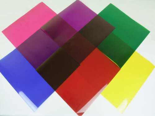 6 Stück PAR 64 Farbfolien Color Mix 24 x 24 cm Farbfilter Filter Farbfolie PAR64