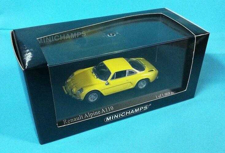 Minichamps 430 113606 RENAULT Alpine A110 gul 1971 43