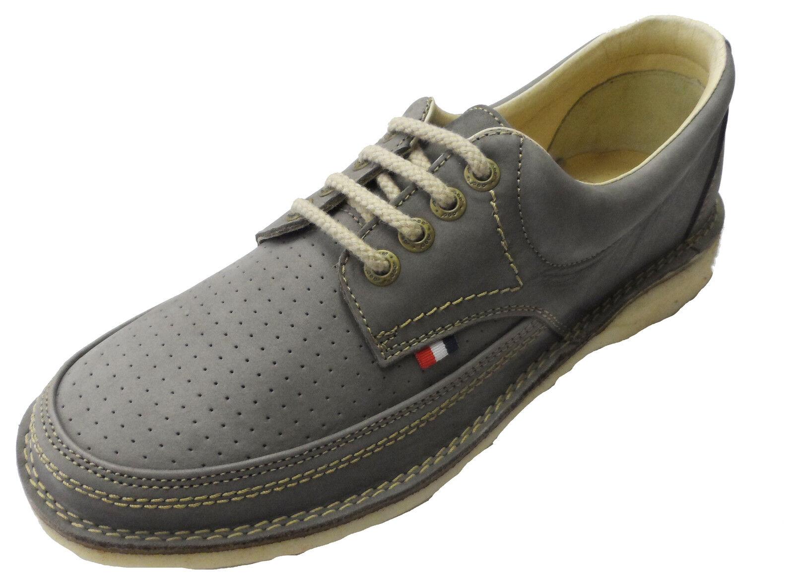 Pod Heritage Grau Gallagher Retro Mod Leder Schuhes