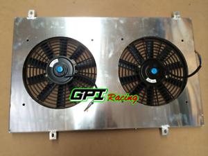 FOR-GQ-PATROL-Y60-4-2L-Petrol-TB42S-TB42E-87-97-Aluminum-radiator-shroud-Fans