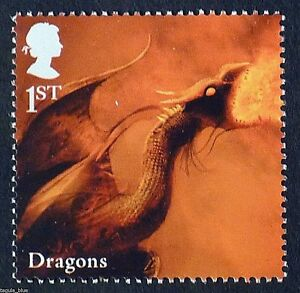 "Mythical Creature ""Dragon"" illustrated on 2009 Stamp - Unmounted Mint"