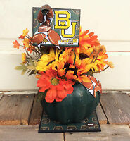 Ag Designs Fall Decor - Floral Pumpkin College Football Mums Baylor U 718/24
