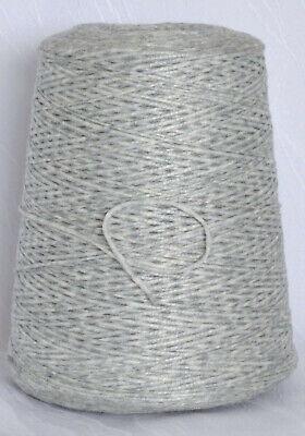 moonlight 62/% Baumwolle 22€//Kg Bändchengarn Stricken grau Kone BE.MI.VA LL 180m