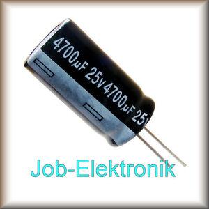 5x Elko Kondensator radial 4700µF 16V 105°C ; EJ3-16V472MJ7# ; 4700uF