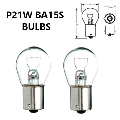 P21W BA15s 382 CLEAR Indicator//Stop Brake//Reversing//Tail Car Light Bulbs 12V
