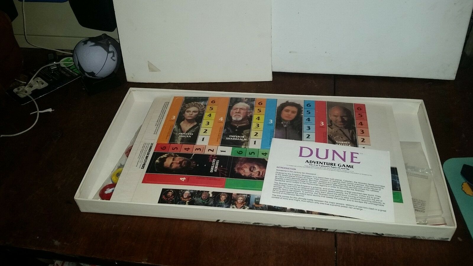 DUNE DUNE DUNE PARKER BROTHERS BOARD GAME DAVID LYNCY FILM MOVIE NO. 0451 1984 73ce27