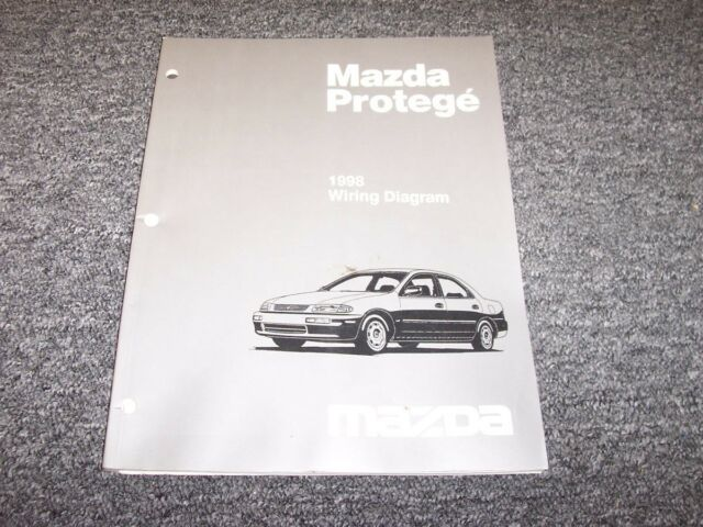 1998 Mazda Protege Sedan Electrical Wiring Diagram Manual ...