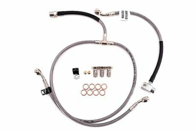 KAWASAKI 1991-97 ZX 7R NINJA GALFER BRAIDED STAINLESS STEEL FRONT BRAKE LINE KIT