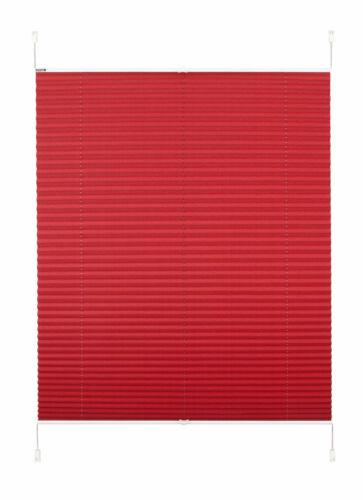 Klemmfix Plissee rot B.Banani Lagos Sicht /& Lichtschutz ab 40 cm Klemmrollo