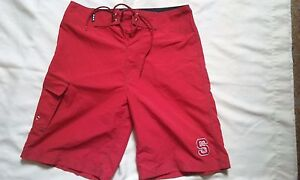 North-Carolina-State-Red-Men-039-s-Drawstring-Swim-Board-Shorts-Size-30-New-ACC