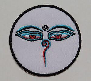 * Iron On Patch * népalais fait * 7.8 cm * Bouddha Eyes-diverses couleurs-afficher le titre d`origine j0d5h7iz-07223221-482063466