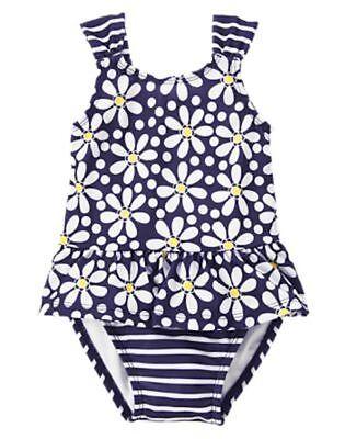 NWT Gymboree JUNGLE BRIGHTS Blue Tiger Floral Pocket Dress w//DC NEW