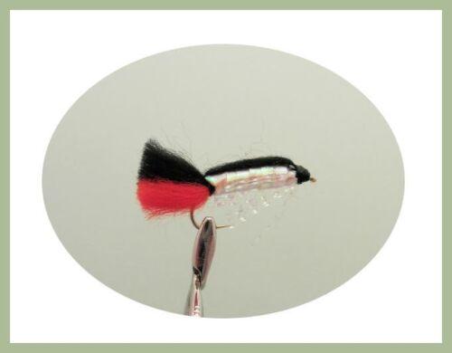 Fishing flies Size 10 Blue /& Red Baby Doll Fishing Flies 12 Luminous Black
