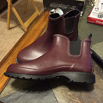 BLACK Maniera hand made 100/% waterproof LOW CUT rain//snow boots *SHORT*