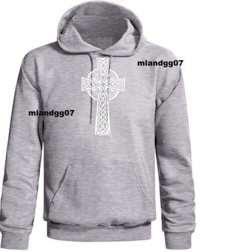 Celtic Cross Sweatshirt Irish Scottish Cross Hoodie SIZES S 5XL