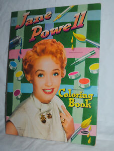 Jane Powell, 1951 oversized coloring book by Whitman, 11x15 | eBay