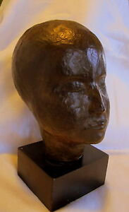 Bronze-Lost-Wax-Cast-034-Portrait-Head-034-Sculpture-Fine-Art