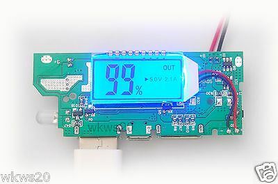 Lithium ion battery 5V 2A Dual USB all-in-one boost charge iPhone capacity LCD