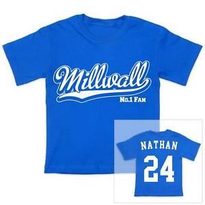 MILLWALL-Futbol-Personalizado-De-Nino-CAMISETA-CHICA