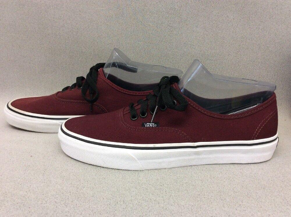 Mens Vans Skate Shoes Burgundy Authentic Size US 8 TT20