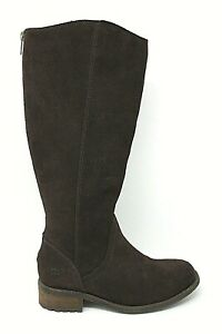 9db7de3ca76 UGG 1005434 Seldon Womens Brown Suede Leather Knee High Back Zip ...