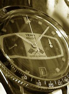 verre bagué neuf en plexi pour montre chrono yema rallye 70's +1 joint de fond