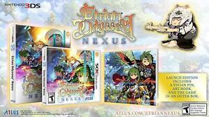 Etrian Odyssey Nexus - Launch Edition - Nintendo 3DS [2DS RPG Art Book] NEW