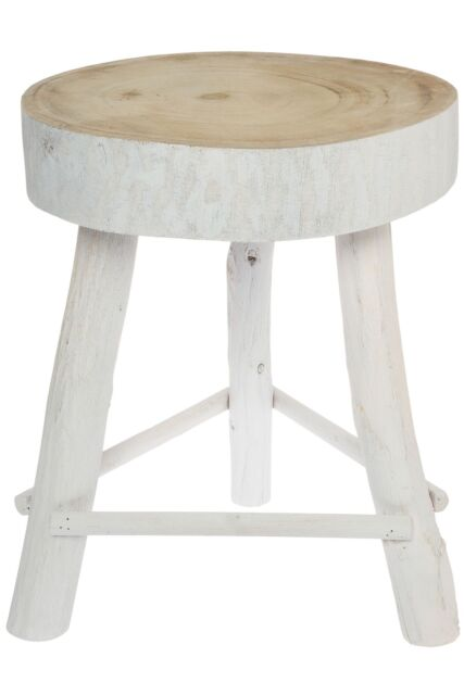 Tremendous Small Sitting Stool White Antique Solid Wooden Natural Footrest Theyellowbook Wood Chair Design Ideas Theyellowbookinfo