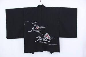 comprar popular a74a9 aa87f Detalles de 羽織 Haori Japonés - Chaqueta Japonesa Negro - Shibori 1468 M/L