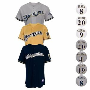 ac7c3b0c1625b Image is loading Milwaukee-Brewers-Authentic-On-Field-MAJESTIC-Cool-Base-