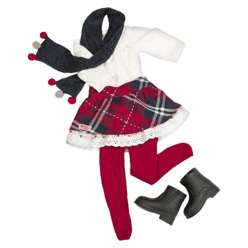 "Our Generation Color Me Plaid Holiday Outfit for 18"" Dolls NEW"