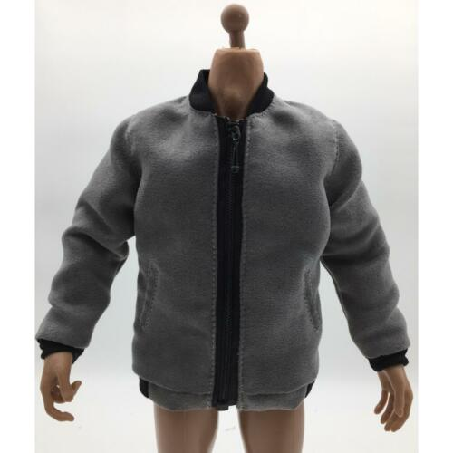 """1//6 Scale Gray Bomber Jacket Outfit For 12/"""" HT PH Male Action Figure Body"""