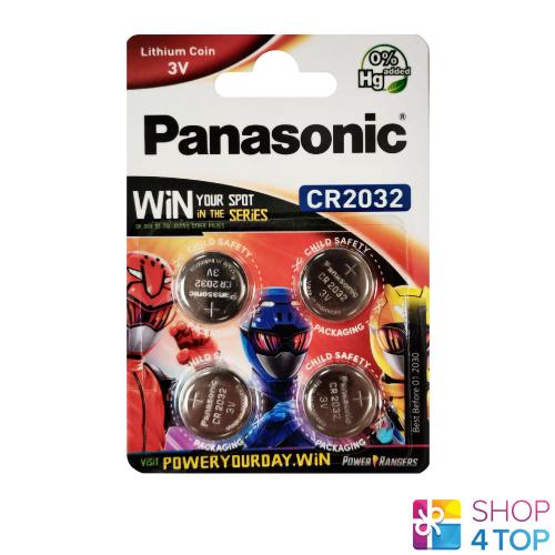 4 Panasonic Lithium Power CR2032 Batteries 3V Coin Cell 4BL Exp 2028 New