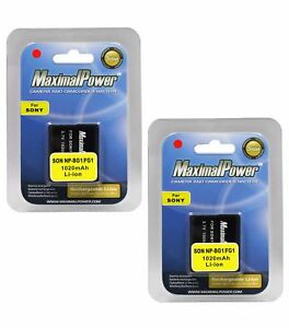 BATTERY-x-2-for-Sony-NP-BG1-NP-FG1-NPBG1-CyberShot-DSC-W200-Camera-TWO-BATTERIES