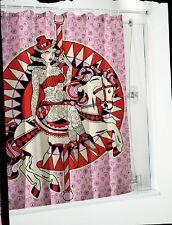 Sourpuss Pink Tattoo Carousel Horse Shower Curtain 180cm X 200cm Polyester