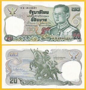 Thailand 20 Baht p-109 2003 UNC Banknote 9