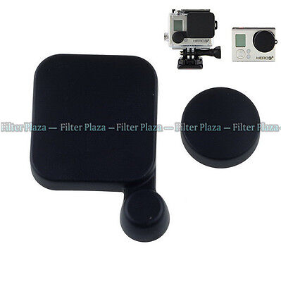 Camera Lens Cap Cover+Housing Case Protector for Gopro HD Hero 3 Accessory Black