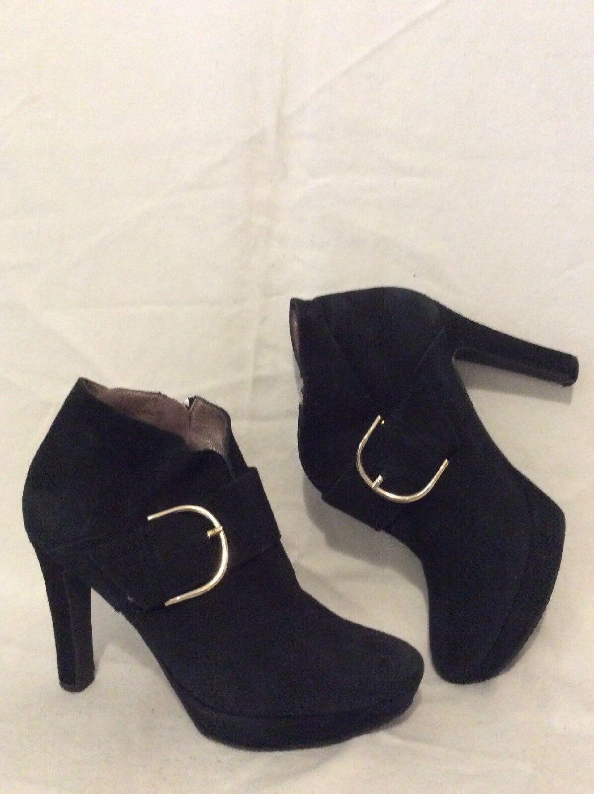 Daniel Black Ankle Suede Boots Size 40