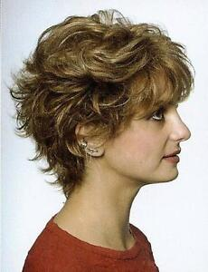 Monofilament-Top-Short-Wavy-Hair-Wig-Wigs-Blond-Brown