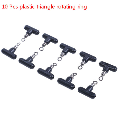 10Pcs Cross-Line Swivels /& Bead T Shape Pulley Slide Rig Connector Saltwater SA